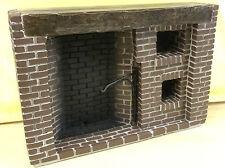 Tudor Style Walk-in fireplace, Dolls House Miniature, Brick Work Design, Tudor