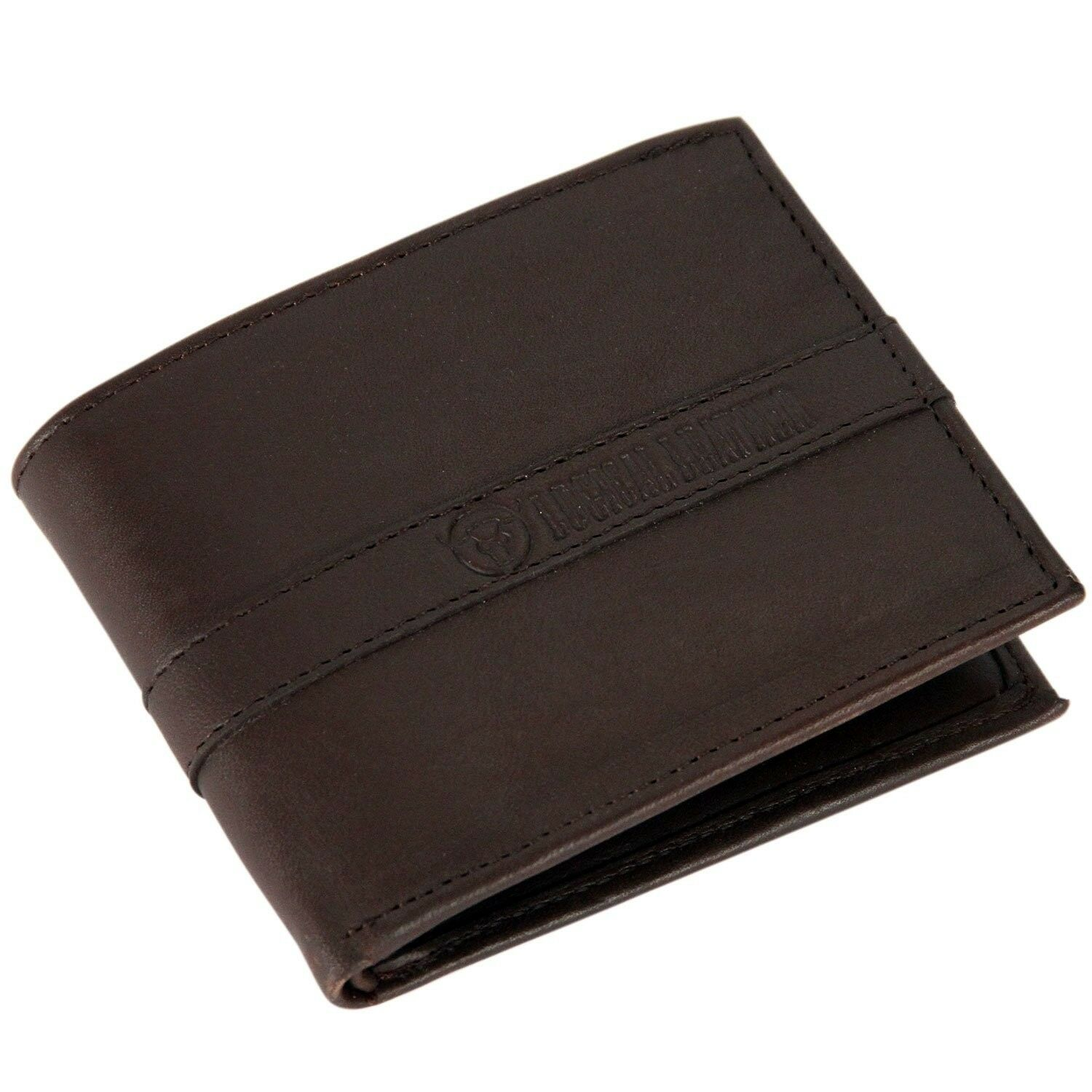 Logical Leather Bifold Wallet - NEW Genuine Leather Billfold for Men - Brown