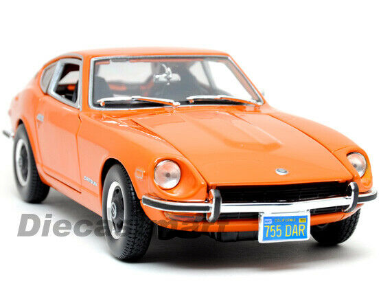 Maisto 1 18 1971 Nissan Datsun 240z Fairlady Fundido modellllerlerismo Coche orange