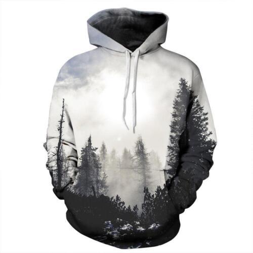 Couples Men Women 3D Warm Print Hoodies Sweater Sweatshirt Jacket Pullover Top