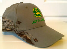 John Deere Dri Duck Wildlife Series All Fabric Tan Hat Cap w Embroidered Fish