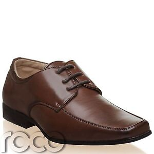 Image Is Loading Boys Dark Brown Shoes Formal