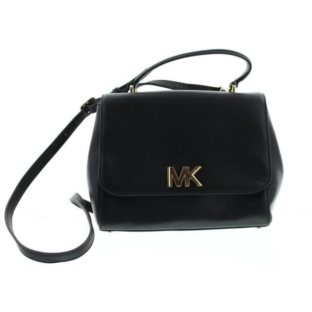 807072be0a2961 release date michael kors mk mott small top handle leather satchel purse bag  black gold 228