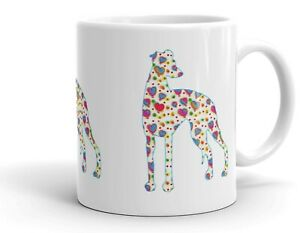 Border Terrier Dog Mug Cool Modern Heart Design Birthday Xmas Mothers Day Gift