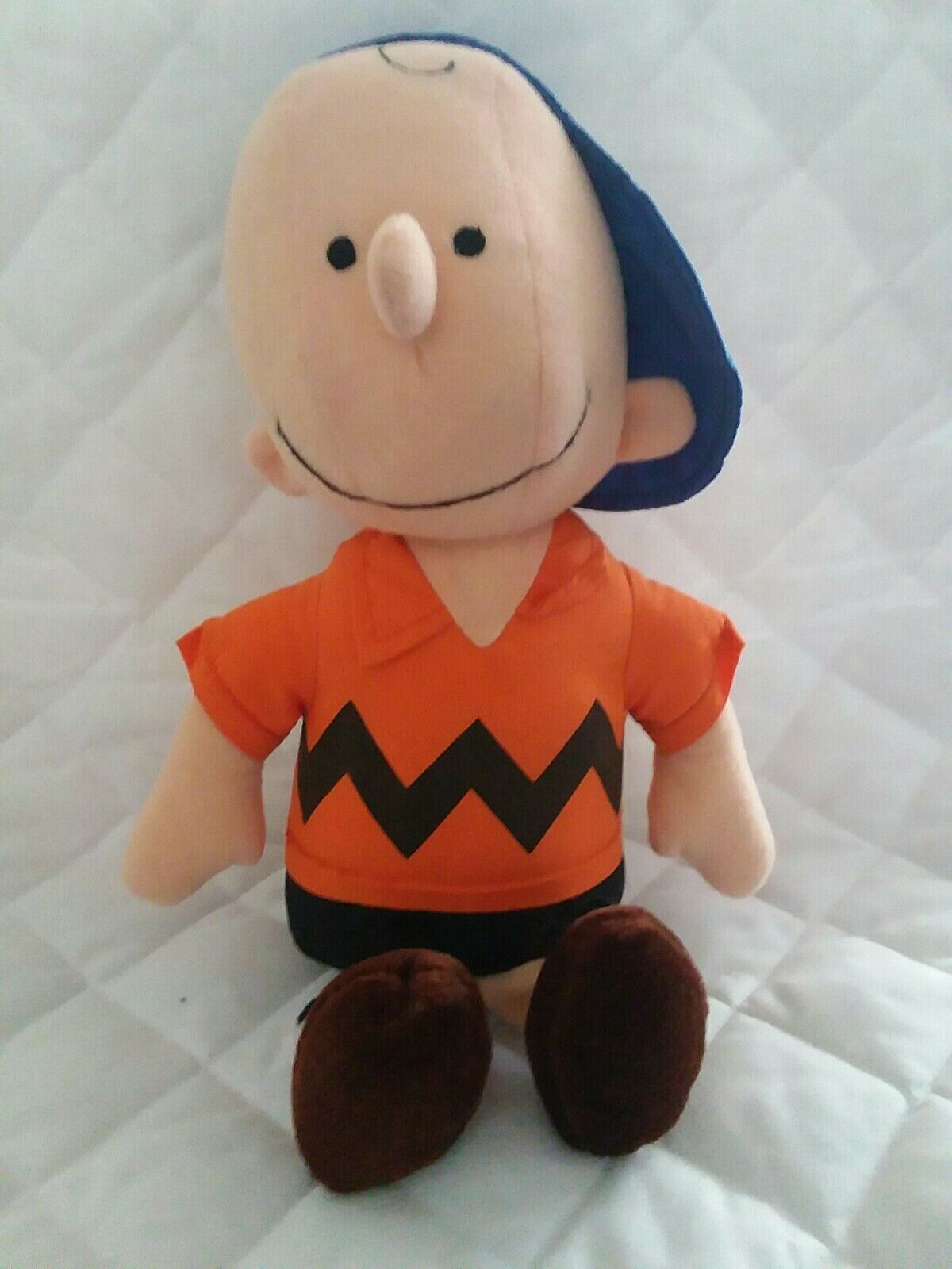 Vintage 13  Peanuts Charlie Brown Plush Plush Plush Doll 1966 United Feature Syndicate Inc. 6835d8