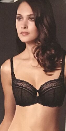 NEW M/&S BRA SIZE 32A NAVY LACE BALCONY NON PADDED UNDERWIRED BRA