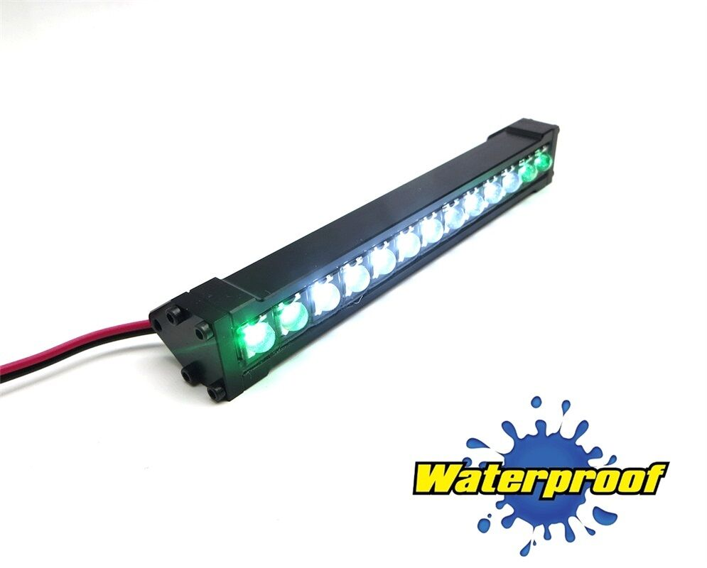 Gear Head RC 1/10 Scale Trail Torch LED Light Bar - bianca and verde GEA1164