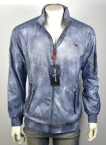 14f4de57c74 True Religion  199 Men s Denim Print Reversible Wind Breaker Jacket ...