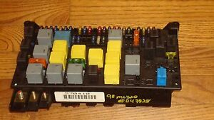 1998 2003 mercedes benz w163 ml320 oem main fuse box relay panel rh ebay com