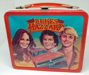 Vintage-Dukes-Of-Hazzard-Metal-Lunch-Box-No-Thermos-TM-amp-Warner-Bros-1980