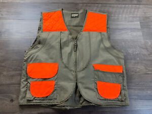 SafTBak-Mens-Hunting-Vest-Khaki-Blaze-Orange-Size-XL-Quilted-Outdoors