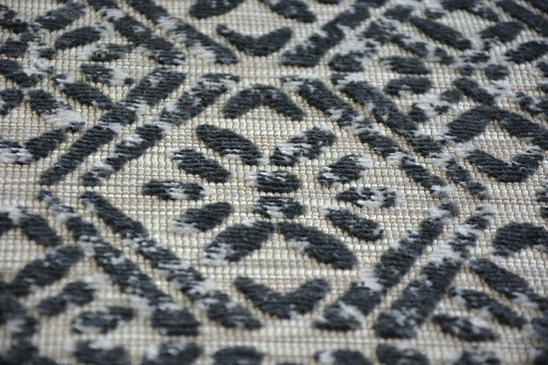 Lisbonne Style Moderne Diamants Gris Tapis Diamants Moderne