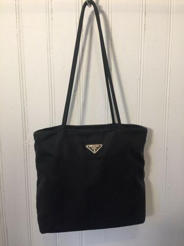 Authentic Prada Black Nylon Shoulder Bag