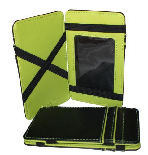 Magic Wallet Slim Money Clip Credit Card Holder ID Business Homme en Cuir Synthétique