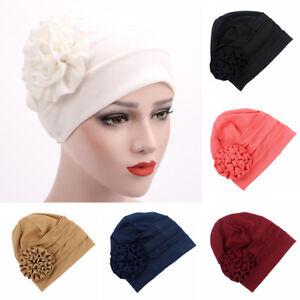 2f8429e60c2 Fashion Women Flower Hat Cancer Chemo Beanie Baggy Cap ...