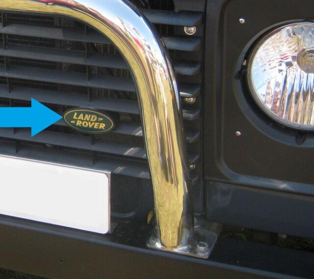 Land Rover Defender Green Gold Oval Front Grille Badge Support Plinth 90  110 SVX