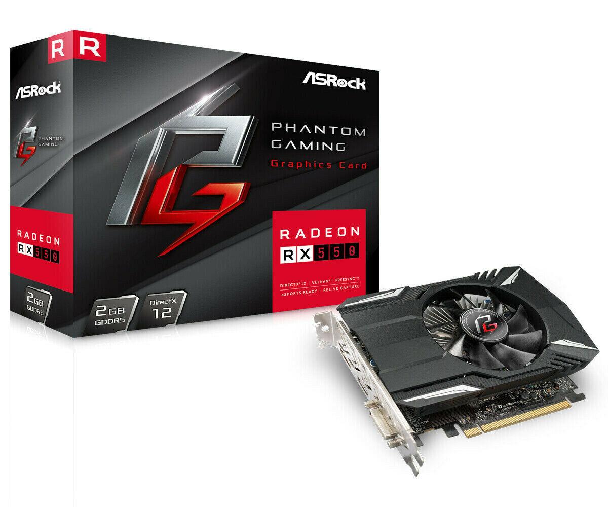 Asrock Phantom Gaming Radeon RX550 2GB GDDR5 Graphics Card 2