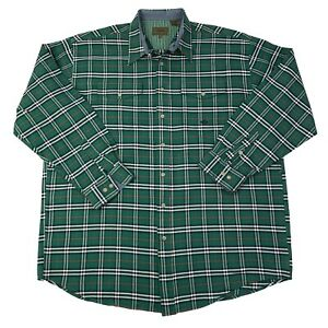 Roper-Mens-Size-2XLT-Tall-Green-checks-Long-Sleeve-Western-Cowboy-Shirt