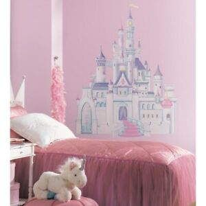 DISNEY-PRINCESS-CASTLE-Giant-Wall-Mural-Stickers-Room-Decor-Decals-Decoration-RM