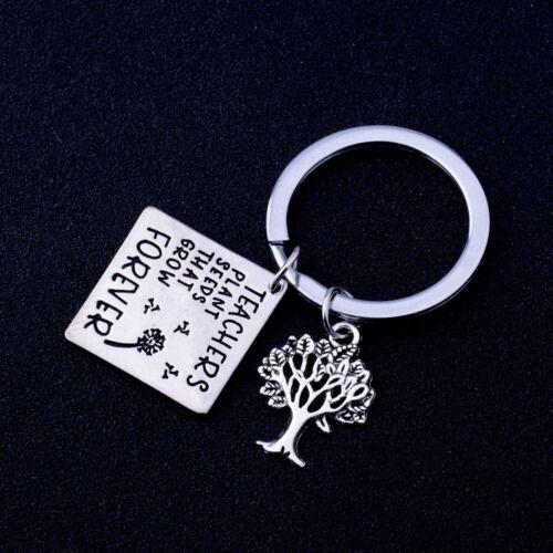 Teachers Key Ring Personalized Love Heart Tree Of Life Keychain Graduation Gifts