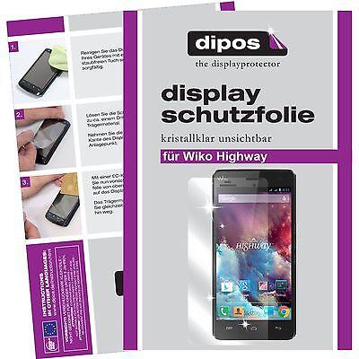 Wiko Highway Schutzfolie klar Displayschutzfolie Folie dipos Displayfolie