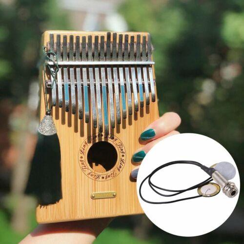 Piezo-Kontaktmikrofon 3 Umsetzer Tonabnehmer mit Endstiftbuchse fuer Kalimba G6Y
