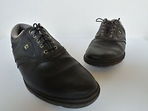 1686f1b69b0f2 Details about FOOTJOY FJ ORIGINALS Men's Size 10 1/2M GOLF SHOES BLACK 45331