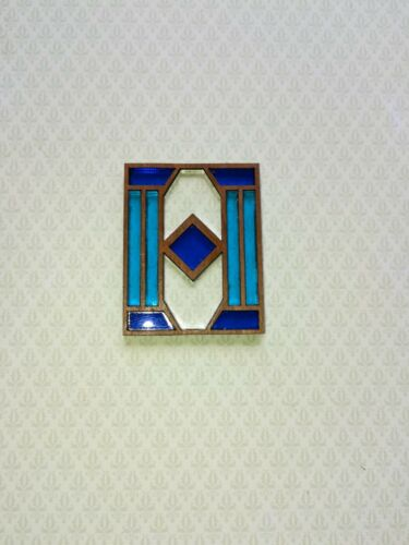 Dollhouse Miniature Stained Glass Window Pane 1:12 Scale Handmade