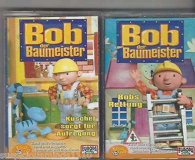 2 Mc S Bob Der Baumeister Kassetten - Kuschel Sorgt Für Aufregung + Bobs Rettung 100% Hoogwaardige Materialen