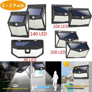 108LED-Lampe-Solaire-Projecteur-Detecteur-de-Mouvement-Jardin-Exterieur-Lumiere