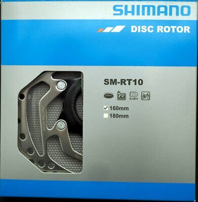 Shimano SM-RT10-S Center Lock Disc Brake Rotor 160mm w// Lockring NIB