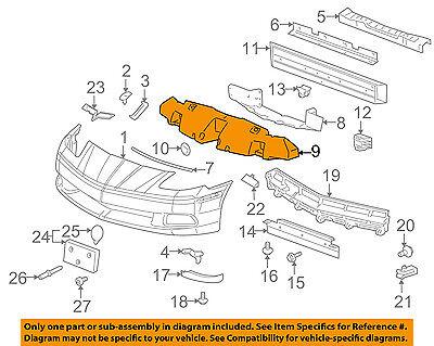 05-13 Corvette Front Bumper Face Bar Impact Energy Absorber GM1070259 15789107
