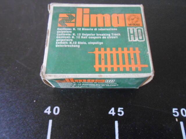 LIMA HO Set 12 Binario Interruzione Unipolare RARE 1:87 with Old Box 3022 a