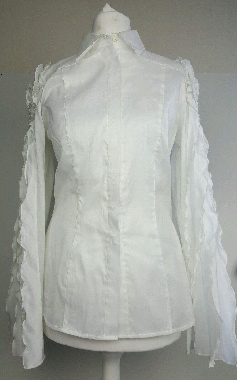 Rare  Bnwt designer designer designer Walter Voulaz frill Weiß shirt.blouse  8 40.    Kaufen Sie beruhigt und glücklich spielen    Ausgezeichnetes Preis    Sale Düsseldorf    Ausgezeichnet (in) Qualität    Modisch  73029a