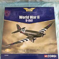 CORGI DOUGLAS C47 DAKOTA RAF Y-SL KG374 WWII D-DAY 1:144 NEW