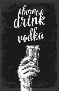 Metal Tin Sign vodka bar  for Bar Pub Home Vintage Retro Poster