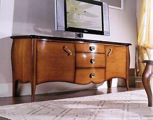 Mobile porta tv basso classico bombato soggiorno vari for Mobili bassi soggiorno