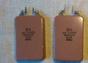 2 pcs. SSG-2 350 V/0,1 UF = 100000pf MATCHED PAIR mica argent Audio condensateurs