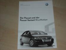 51285) VW Passat + Variant BlueMotion Preise & Extras Prospekt 05/2007