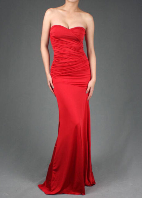 Formal Prom Womens Strapless Party Gown Evening Cocktail Long Maxi Dress S M L
