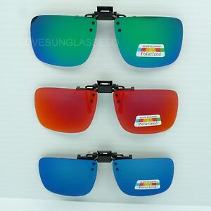 12d8c301a58 Clip on flip up sunglasses color mirror gray polarized fish drive ...