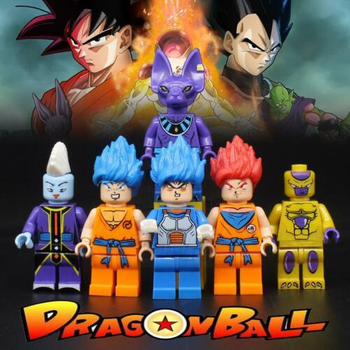 X 6 DragonBall Z Mini  Figures Building Blocks Toys Gifts UK Seller 6pcs
