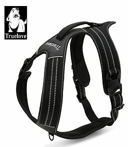 Dog-Harness-Collar-Lead-Leash-Heavyduty-Mesh-Reflective-Escape-Proof-XS-to-XL