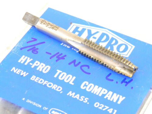 NEW 1PC HY-PRO USA 7//16-14 NC GH3 LEFT HAND LH HSS Spiral Point PLUG HAND TAP