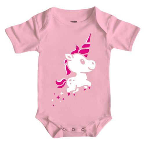 Baby Body Strampler kurz Kleines Einhorn 62-92 cm Geschenk Geburtstag unicorn