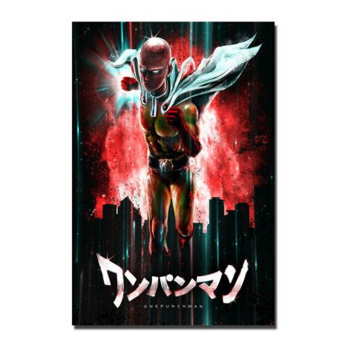 ONE-PUNCH MAN Wanpanman Japan Anime Silk Canvas Poster 13x20 32x48/'/'
