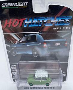 CHASE Austin Mini Cooper S model road car Hot Hatches GREEN WHEELS 1:64 47080-A
