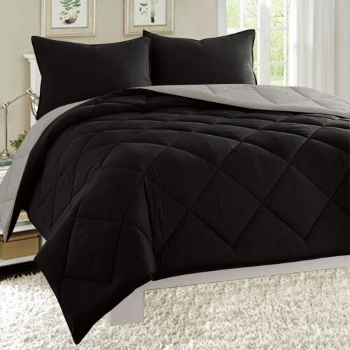 Reversible Comforter Set Down Alternative 1-pc Bed Cover Super SOFT 11 Colors