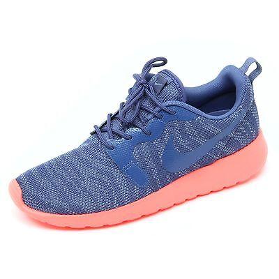 487db2524e B8741 sneaker donna NIKE ROSHERUN KJCRD scarpa blu/corallo shoe woman