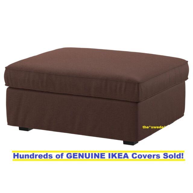 Ikea Kivik Footstool Ottoman Cover Slipcover Borred Dark Brown New Sealed